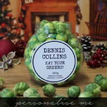 Christmas Chocolate Sprouts Jar
